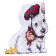 Walkers Shortbread Wee Scottie Dog Tin With Scottie Dog Shortbread Cookies, 7.0 Ounces