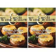 "Wind & Willow ""International Influence"" Savory Cheeseball And Dip Mix (2-Pack) (Bacon Stuffed Mushroom)"