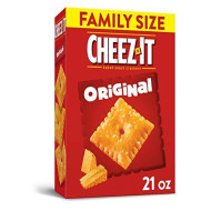 Cheez-It Original Cheese Crackers - School Lunch Food, Baked Snack, Kosher, Family Size (21 Oz Box)