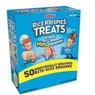 Kellogg'S, Rice Krispies Treats Crispy Marshmallow Mini-Squares, Original, Single Serve, Display Box Caddy, 0.39 Oz Bars