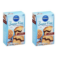 Pillsbury New! Sugar Free Deluxe Cinnamon Swirl Quick Bread & Muffin Mix 0g Sugar 1g Sat Fat - 16.4 Oz (Pack of 2)