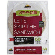 "Tumaro's 8"" Carb Wise Tortilla Wraps - Ancient Grain - 8 Count - Case of 6"