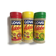 Goya Adobo Seasoning,1 With Pepper, 1 With Cumin And 1 With Lemon And Pepper, 8 Ounces (3 Pack, 1 Of Each)