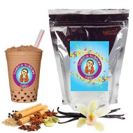 Vanilla Chai Tea Latte Boba / Bubble Tea Drink Mix Powder By Buddha Bubbles Boba 1 Pound (16 Ounces) | (453 Grams)