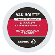 Van Houtte, Raspberry Chocolate Truffle, Single-Serve Keurig K-Cup Pods, Light Roast Coffee, 48 Count (2 Boxes 24 Pods)