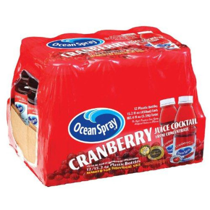 Ocean Spray, Cranberry, 15.2 Oz (Pack Of 12)