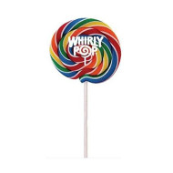 Whirly Pops - Swirled Rainbow Colored Lollipops (6 Count)