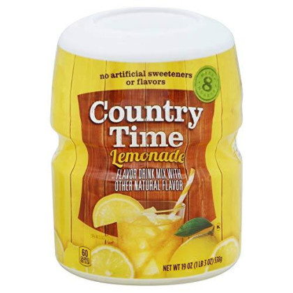 Country Time Lemonade Flavor Drink Mix- Pack of 2 Canisters (19 oz each)