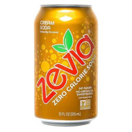 Zevia Zero Calorie Cream Soda, Naturally Sweetened, 12 Fl Oz Can, Pack Of 24 (Packaging May Vary)