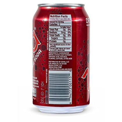 Zevia Zero Calorie Soda, Dr. Zevia, Naturally Sweetened Soda, Fruit-flavored Carbonated Soda, Refreshing, Full of Flavor and Delicious Natural Sweetness with No Sugar, 12 Fl Oz, Pack of 24