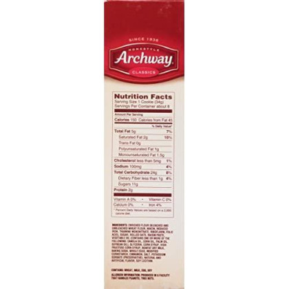 Archway Cookies, Soft Oatmeal, 9.5 Ounce (Pack of 9)