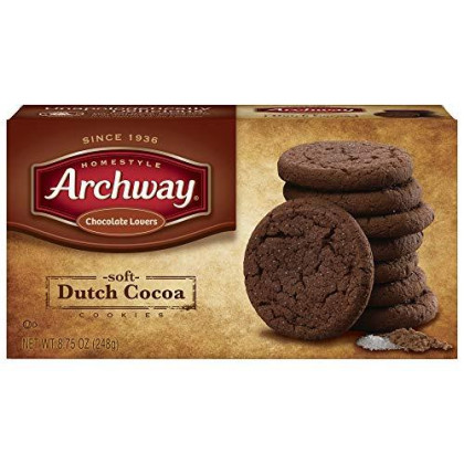 Archway Cookies, Soft Dutch Cocoa, 8.75 Ounce (Pack Of 9)