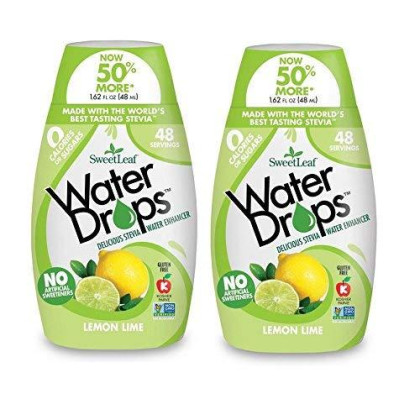 Sweetleaf Stevia Natural Water Drops Lemon Lime, 1.62 Ounce (Pack Of 2)