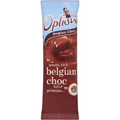 Options Belgian Chocolate Instant Hot Chocolate Drink (11G) - Pack Of 6