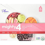 Plum Organics Tots Mighty 4 Essential Nutrition Blend Pouch, Carrot/Guava/Oats/Black Beans, 4 Ounce (Pack Of 6)