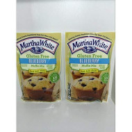 Martha White Gluten Free Blueberry Muffin Mix 7 Oz. - Pack Of 2