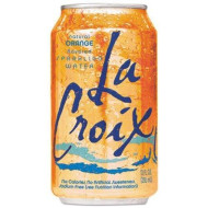 La Croix Sparkling Orange Water, 12 Ounce (24 Cans)