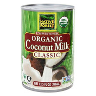 Native Forest - Coconut Milk Classic Organic Unsweetened - 13.5 Oz (Pack Of 2)