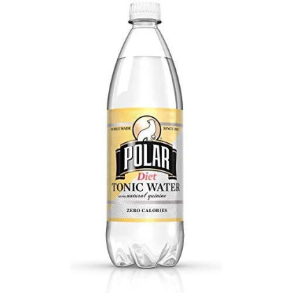Polar Beverages Diet Tonic Water, 33.8 Fluid Ounce (Pack Of 12)