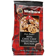 Walkers Shortbread Mini Chocolate Chip Shortbread Rounds, 4.4 Ounce Box
