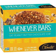 Pamela's Products Gluten Free Whenever Bars, Oat Peanut Chocolate Chip, 5 Bars per Box, 6 Count