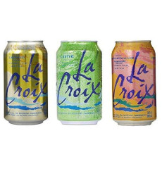 La Croix Sparkling Water Citrus Bundle: 12/ 12 Oz Cans: 4 Cans Each Of Grapefruit, Lemon, And Lime