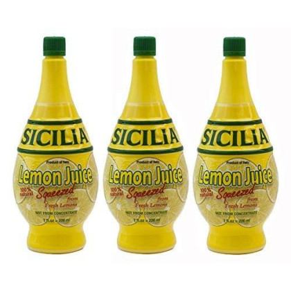 Sicilia Lemon Juice, 7Oz (Pack Of 3)