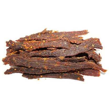 People'S Choice Beef Jerky - Old Fashioned - Hot & Spicy - Healthy, Sugar Free, Zero Carb, Gluten Free, Keto Friendly, High Protein Meat Snack - Dry Texture - 1 Pound, 16 Oz - 1 Bag