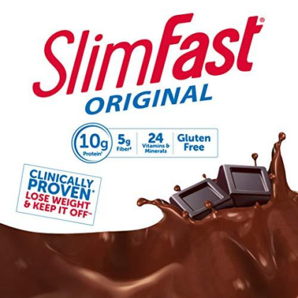 Slimfast Original Rich Chocolate Royale Shake - Ready To Drink Weight Loss Meal Replacement - 10G Of Protein - 11 Fl. Oz. Bottle - 8 Count (Pack Of 3)