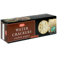 Dare Cracked Pepper Water Crackers - Healthy Entertaining Snacks With 0 Grams Of Trans Fat And Saturated Fat - 4.4 Ounces