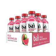 Bai Flavored Water, Kula Watermelon, Antioxidant Infused Drinks, 18 Fluid Ounce Bottles, 12 Count