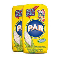 P.A.N. White Corn Meal - Pre-Cooked Gluten Free And Kosher Flour For Arepas, 1 Kilogram (35 Ounces / 2 Pounds 3.3 Ounces) (Pack Of 2)
