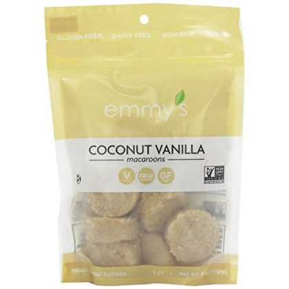 Emmy'S Gluten Free Coconut Vanilla Macaroons 170G (Pack Of 3)