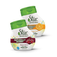 Stur - Skinny Variety Pack - Liquid Water Enhancer (Pack Of 4) For Hunger Control, With Fiber - All Natural, Sugar-Free, Calorie-Free, High Antioxidant Vitamin C, Makes 80 Servings