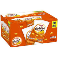 Pepperidge Farm Goldfish Cheddar Crackers 45 Ounce Multipack Box 30 Count 1.5 Ounce Snack Packs