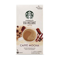 Starbucks Via Instant Latte Caffe Mocha 6.5 Oz (5-1.3 Oz Single Serve Packets) (Pack Of 2)