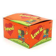 Love Is (Sipsevdi), Orange and Pineapple Flavoured Sugar Bubble Gum 1 Pack 100 Pieces