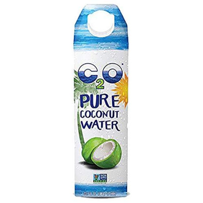 C2O Pure Coconut Water | Plant Based | Non-Gmo | No Added Sugar | Essential Electrolytes | 1 Liter (Pack Of 6)
