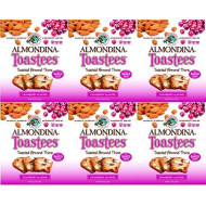 Almondina Toastees, 5.25 oz Package (Pack of 6) (Cranberry Almond)