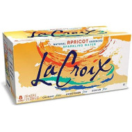 Lacroix Sparkling Water, Apricot, 12Oz Cans, 8 Pack, Naturally Essenced, 0 Calories, 0 Sweeteners, 0 Sodium