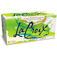 Lacroix Sparkling Water, Mango, 12Oz Cans, 8 Pack, Naturally Essenced, 0 Calories, 0 Sweeteners, 0 Sodium