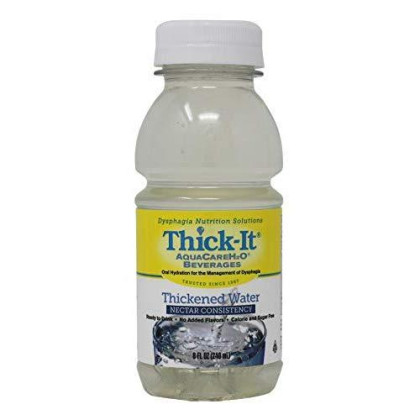 Thick-It Thickened Aquacare H2O Nectar Consistency Beverage, Water, 8 Ounce