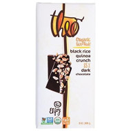 Theo Black Rice Quinoa Crunch 85% Dark Chocolate Bar, 3 oz