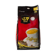 Trung Nguyen - G7 3 In 1 Instant Coffee - 100 Packs | Roasted Ground Coffee Blend with Creamer and Sugar, Suitable for Most Coffee Brewing Methods, (16gr/stick)
