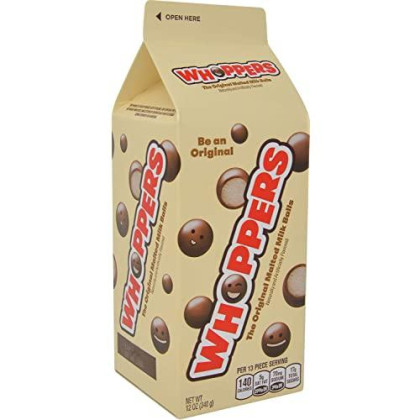 Whoppers Malted Milk Balls, 12 Oz Cartons (Pack Of 2)