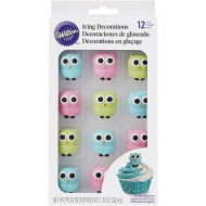 Wilton 710-6022 Owl Edible Icing Decorations