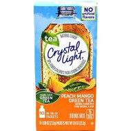Crystal Light On The Go Peach Mango Green Tea Drink Mix, 10-Packet Box (Pack Of 5)