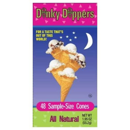 Dinky Dippers Miniature Ice Cream Cones Mini Child-Size 48Ct, 1.95 Ounce