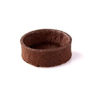 Chocolate Round Tart Shell Straight Edge Coated Inside With Cocoa Butter - 2'' Diameter - 100 Pces