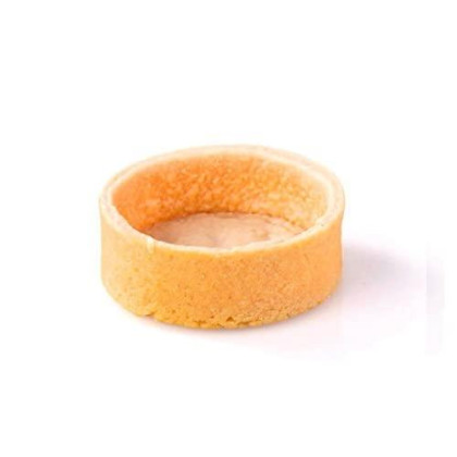 Sweet Round Tart Shell Straight Edge Coated Inside With Cocoa Butter - 2'' Diameter - 100 Pces